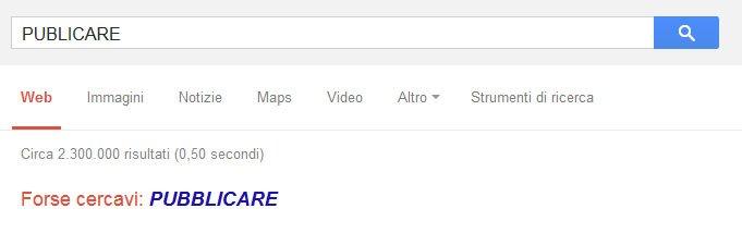 controllo ortografico Google